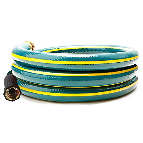 Solution4Patio 5/8 in. x 6 ft. Short Garden Hose, No Leaking, Green Lead-Hose Male/Female Solid Brass Fittings for Reel Cart, Water Softener, Dehumidifier, Camp RV Filter and Janitor Sink Hose
