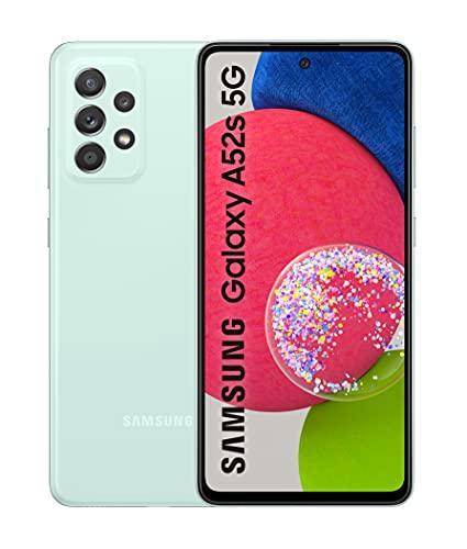 Samsung Smartphone Galaxy A52s 5G con Pantalla Infinity-O FHD+ de 6,5 Pulgadas, 6 GB de RAM y 128 GB de Memoria Interna Ampliable, Batería de 4500 mAh y Carga Superrápida Verde (Version ES)