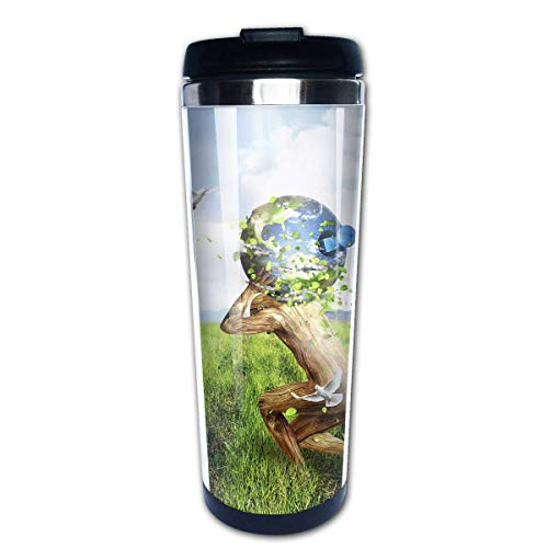 MQJJ Travel Coffee Mug Creative Nature Bare Stainless Steel Insulated Coffee Cup Sport Water Bottle 13.5 Oz