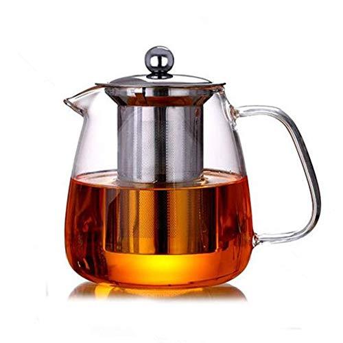 Glass Teapot with Infuser Tea Pot 500ml/17oz Tea Kettle Stovetop Safe Blooming and Loose Leaf Tea Maker Set