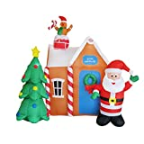 Sponsi 6.4 Pies Muñeco Hinchable De Decoracion Navidad,Decoraciones De Patio Inflable Modelo Inflable De Navidad