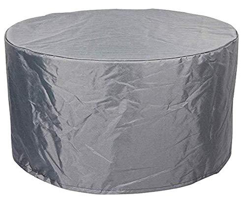 BBMMCLL Funda Protectoras Muebles Jardin, 210D Paño Oxford Funda Protectora para Mesa de Comedor Redonda Impermeable a Prueba de Viento Cubierta de Mesa de jardín-190x71cm