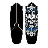 XKAI Skateboards para Principiantes Surfskate Carving Tabla Completa Madera de Arce 75×23cm Pumping ABEC-9 Rodamientos de Bolas, CX4 Truck, Deck Longboard para Niños, Adolescentes y Adultos