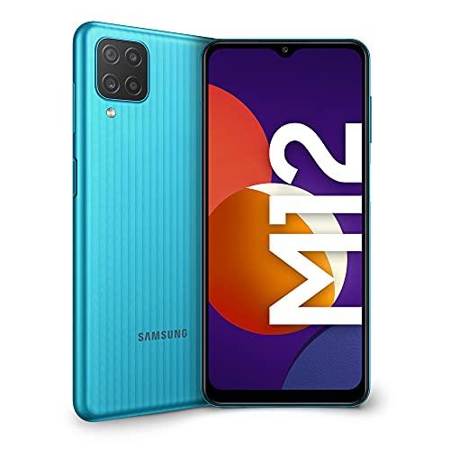 Samsung Galaxy M12 Smartphone Android 11 Display da 6,5 Pollici 4 GB di RAM e 64 GB di Memoria Interna Espandibile Batteria da 5.000 mAh Green [Versione Italiana]