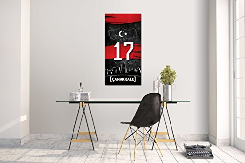 Wandtattoo Wandsticker Aufkleber Canakkale 17 Plaka Türkiye Grösse: 120 x 60 cm