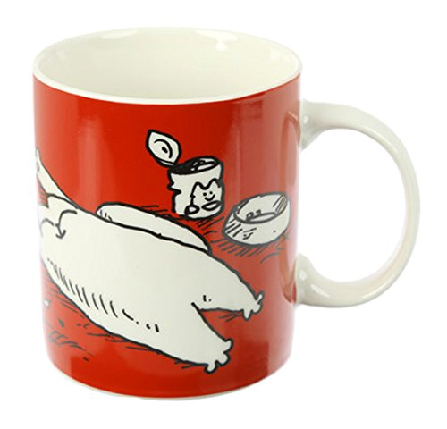 Simon's Cat Tasse I Woke Up Like This weiß, bedruckt, 100% Porzellan , in Geschenkverpackung.