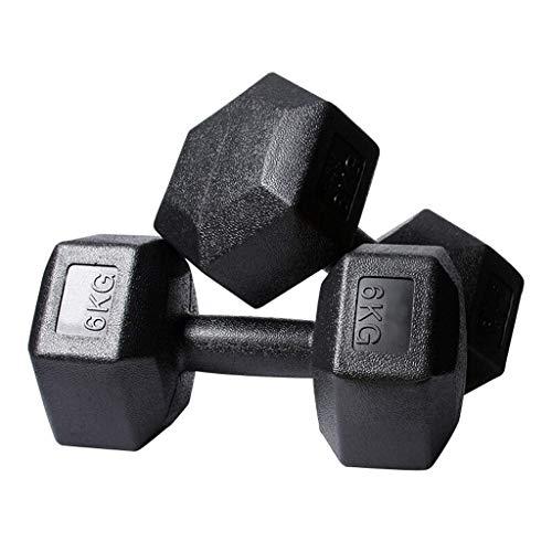 N/Z Equipo para el hogar Mancuerna Hexagonal de PVC ecológica para Hombres 5 kg / 6 kg / 7,5 kg / 10 kg Equipo de Gimnasia para el hogar Adecuado para Entrenamiento de Brazos y piernas en el Pecho