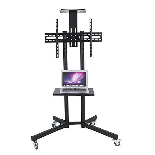 EBTOOLS Soporte de TV LCD Móvil Estable con Ruedas para Pantalla Plana de 32-65 Pulgadas LCD/LED Altura Ajustable Rotación Libre de 360 Grados Carro de Montaje Flexible de Televisión(# 2)