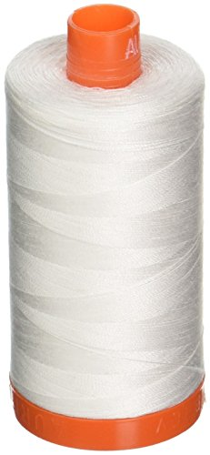Aurifil A1050-2021 Mako Cotton Thread Solid 50WT 1422Yds Natural White