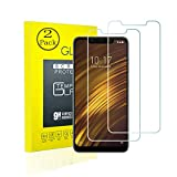 [2 Pack] Xiaomi pocophone F1 Tempered Glass Screen Protector With 2.5D Round Edge Ultra Thin Shatter-Proof And Bubble Free Anti-Scratch