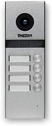 TMEZON 4 Fili telecamera esterna campanello 1200TVL citofono Videocitofono,adatto per MZ-VDP-739EM Monitor per appartamento/plurifamiglia/Bifamiliare, visione notturna, IP55