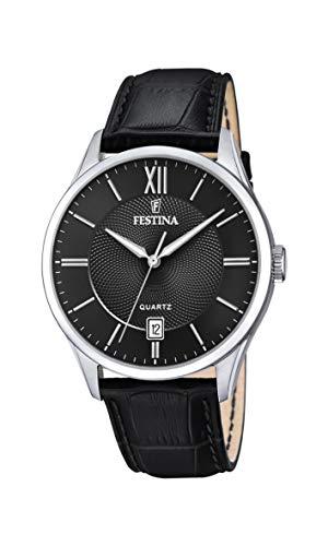 Festina Herren Analog Quarz Uhr mit Leder Armband F20426/3