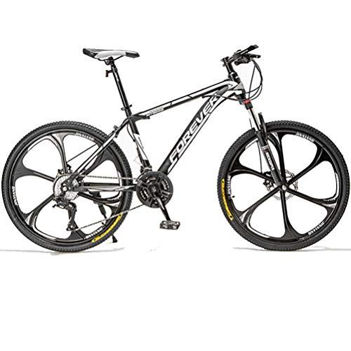 BNMKL Bicicleta De Montaña 26/24 Pulgadas, 21/24/27/30 Velocidad Bicicleta De Carretera, Freno De Disco Doble Bicicleta De Montaña Viajeros Urbanos para Adolescentes Adultos,Blanco,26 Inch 21 Speed