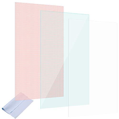 Nauci Bildschirm Schutz Folie Tablet 3X Universal Bildschirmschutz bis 10 Zoll Schutzfolie
