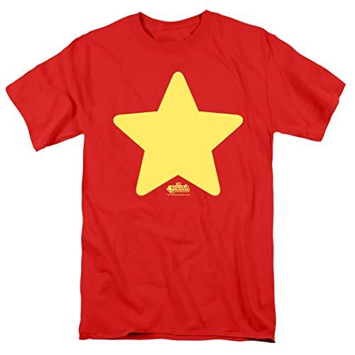 Steven Universe Star Cartoon Network T Shirt & Stickers (Small) Red