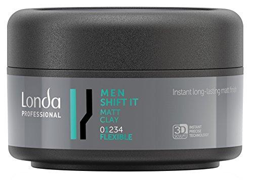 Londa Men Shift It Matt Clay Flexible - Arcilla de peinado para hombre, efecto mate, flexible, 1 unidad (1x 75ml)