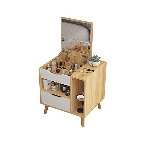 WZHZJ Nórdica Moderna Tocador con Espejo de cajón de Madera Dresser Mesilla de Noche Muebles de Dormitorio de Noche Mini Tabla de la Boda de Muebles