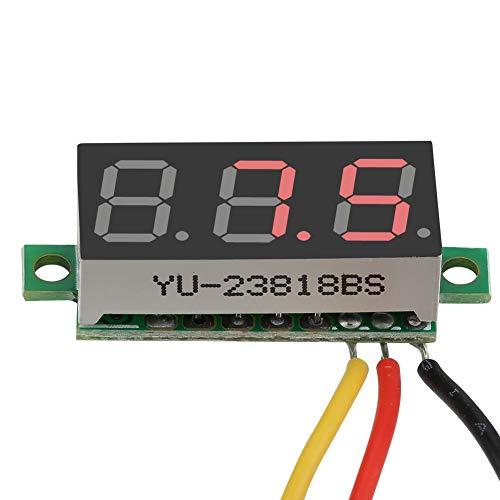 Panel de voltaje, voltímetro de CC, liviano, compacto, fácil de conectar, portátil de 0.28 pulgadas para motocicletas, para monitorear el voltaje de la batería para bicicletas eléctricas(red)