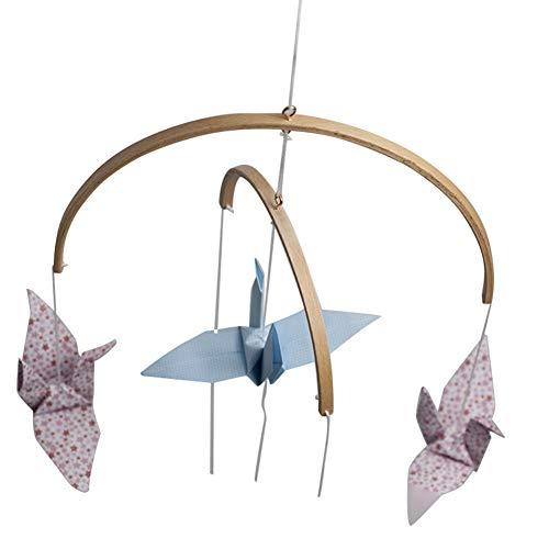 Fanville DIY sonajero de Madera con Cuentas para Cuna, campanillas de Viento, Campana, decoración del hogar, Juguete Adecuado para bebés de 0 a 18 Meses