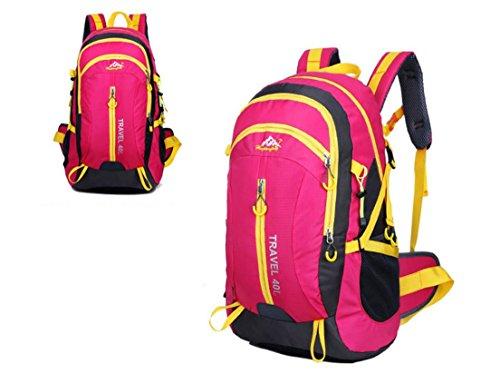 Nouveau voyage sac à dos Sacs bandoulière plein air sacs 40L alpinisme imperméable à l'eau , rose red