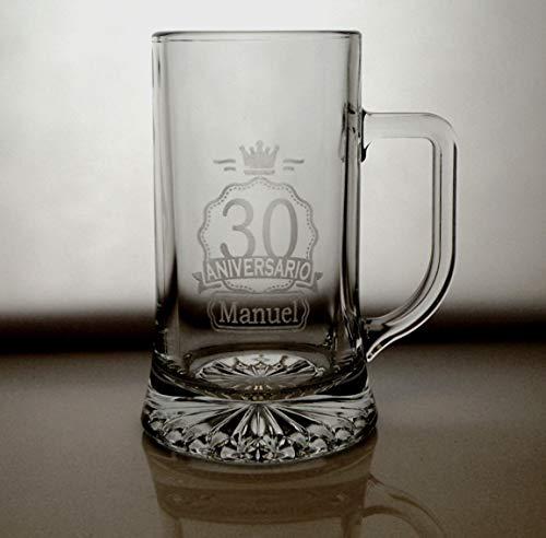 Arte-Deco Jarra DE Cerveza Stern GRABADA Y Personalizada para Aniversario. Jarra 520...
