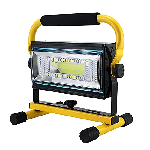 WOERD 100W Faretto Portatile, Faretto a LED da Cantiere a Batteria, Impermeabile IP65 Lampada da Lavoro a LED Ricaricabile per Giardini Cortili Garage Corridoi