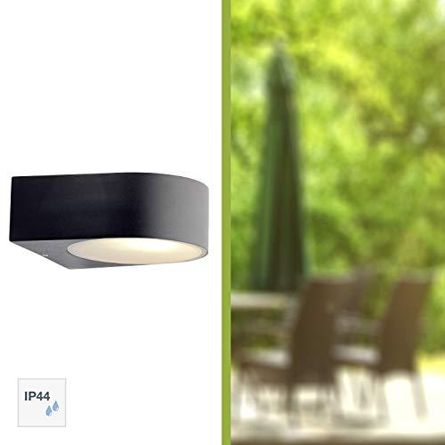 Brilliant Tyler Außenwandleuchte spritzwassergeschützt Lichtauslass einseitig schwarz, 1x E27 geeignet für Normallampen bis max. 60W