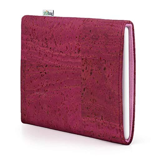 stilbag eReader Hülle VIGO für Amazon Kindle Voyage (7. Generation) | eBook Reader Tasche - Made in Germany | Kork pink, Wollfilz Altrosa