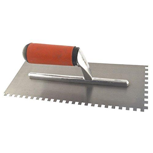 Agarre suave paleta autoadhesiva 280mm cuadrados dientes de acero enfoscado de yeso cerámico SIL314