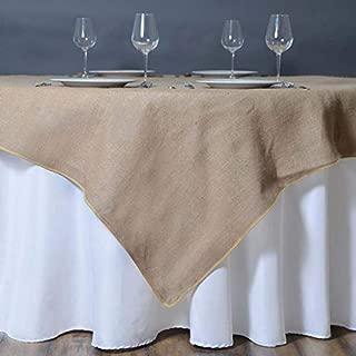 Efavormart CHAMBURY CASA Fine Rustic Burlap Tablecloth/Square Tablecloth Overlay 90