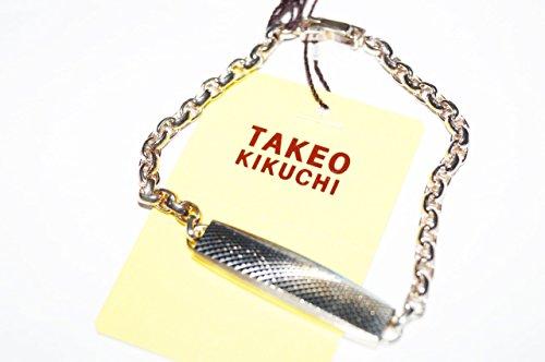 タケオキクチ TAKEO KIKUCHI シルバー レザーブレス 日本製 a122015 メンズ (a12)