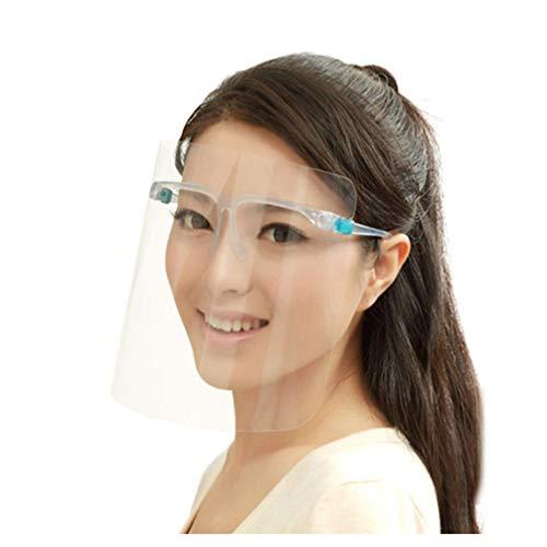 TOPBATHY 8 Stücke Gesichtsschutzschild Sicherheit Gesichtsschutz mit Visier Schutzhelm Gesichtsschutzschirm Klar Schutzbrille Gesichtsschild für Arzt Outdoor Arbeit Küche