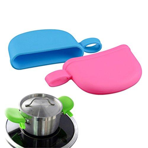 CFtrum 4pcs Silikon Küche Ofenhandschuhe Wärme Isolierung Handschuhe Silikon hitzebeständig Silikon Topfhalter Ofen Mitt Hitzebeständig Kochen Finger Schutz