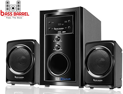 Bass Barrel BB-696 2.1 Bluetooth Multimedia Home Theater Speaker System with FM, USB/Pendrive, AUX Support