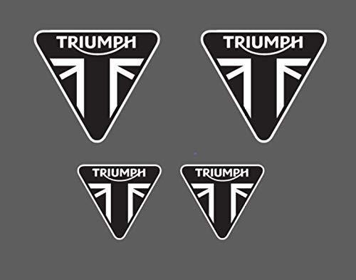 4 adesivi TRIUMPH - moto stickers daytona 675 speed street triple tiger KTR002