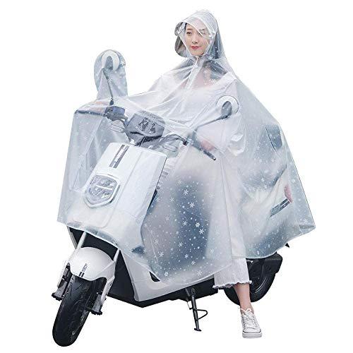 YWAWJ Vespa del impermeable de tierra bicicletas lluvia impermeable poncho, la chaqueta...