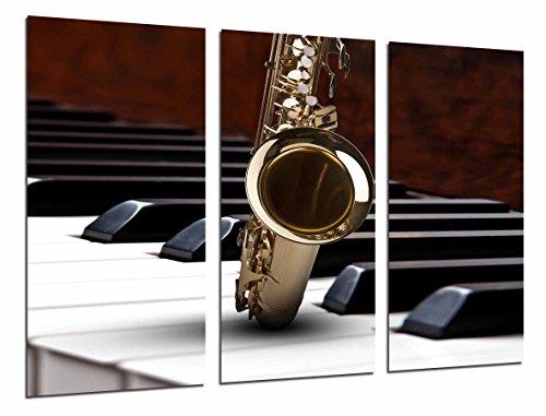 Fotoposter Saxofon en Piano Duo muziek Totale grootte: 97 x 62 cm XXL