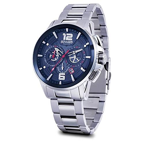 Duward aquastar Race Mens Analog Japanese Automatic Watch with Stainless Steel Bracelet D95521.05