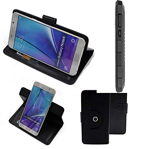 K-S-Trade® Case Schutz Hülle Für Cyrus CS 24 Handyhülle Flipcase Smartphone Cover Handy Schutz Tasche Bookstyle Walletcase Schwarz (1x)