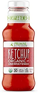 Primal Kitchen - Organic Unsweetened Ketchup - Non GMO - Vegan - Gluten Free - Paleo Friendly - No HFCS or Cane Sugar - Whole 30 Approved