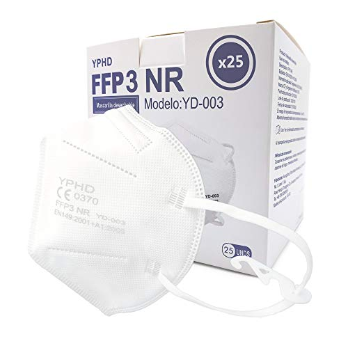 GreenBee-YPHD YD-003 Mascarilla filtrante de partículas FFP3 NR 25 unidades