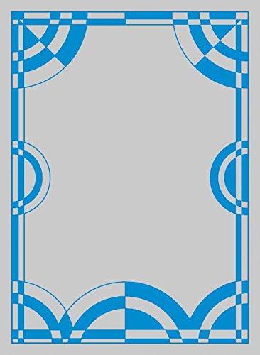 キャラクタースリーブプロテクター 【世界の文様】 「モノトーン ブルー」