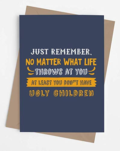 Funny card for mom or dad | Original card for parents from son or daughter | Inappropriate gag card for Birthday, Mother's Day, Anniversary, Christmas. | Just Remember
