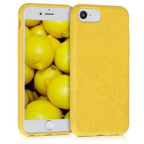 kalibri Funda Compatible con Apple iPhone 7/8 / SE (2020) Carcasa Hecha de TPU y Trigo Natural ecológico - Amarillo