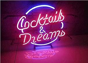"XPGOODUSA New Dreams neon Light sign-17""×13"" bar Signs for Home Bedroom Garage Neon Decor Wall Window Neon Lights, Striking Neon Lights for Bar Pub Game Room"