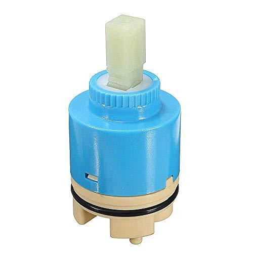 Cartucho de grifo Válvula de cartucho de disco de cerámica de 1 pieza para grifos monomando de baño o cocina de una sola palanca (tipo B 35 mm)