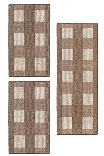 andiamo, Teppich Flachgewebe Dalia strapazierfähig, schadstoffgeprüft 1x 67 x 200 cm + 2x 67 x 120 cm beige