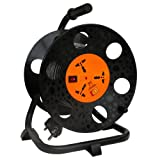 sMX Surge Protector with 30 Feet / 10 Meters P0wer Cable 3 Universal SOCKETS EXTENSION REEL WITH SWITCH & Child Safety Shutter (5 Amperes) - MX 3153