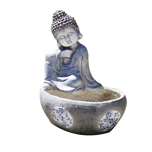 SDBRKYH Thai Buddha Sculpture Pot Plante, Jardin créatif Planteur Artificiel Succulent Pot de Fleurs Pot d'extérieur Aménagement paysager Plante Ornements