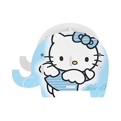 Hello Cartoon Kitty Anime Lindo gato azul elefante lápiz titular con soporte para teléfono, accesorios de oficina divertidos soporte para tableta organizador de escritorio